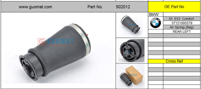 37121095579 BMW Air Suspension Parts With Rear Air Leveling Rear Left Air Spring Bag