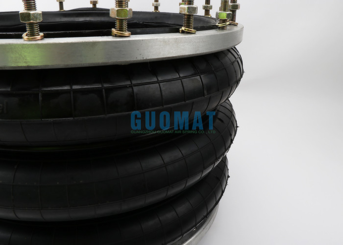 Large Industrial Air Spring GUOMAT 3H480312 At 0.7 Mpa Max Dia 510mm With Ring 20pcs Bolts